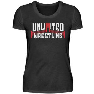 Unlimited Wrestling Logo Girlie - Damenshirt-16