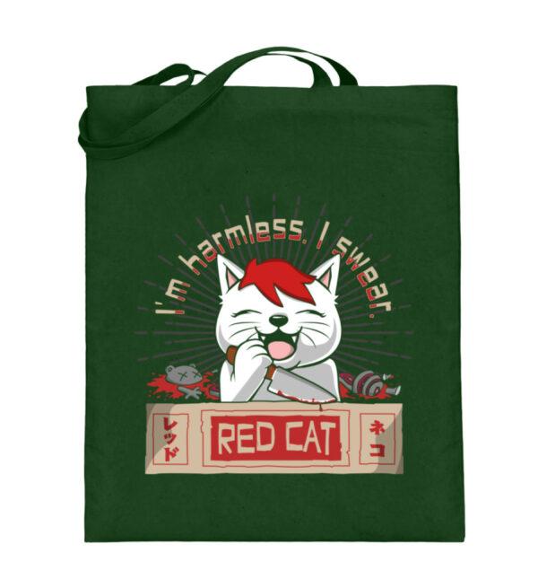 Red Cat Harmless Beutel - Jutebeutel (mit langen Henkeln)-5741