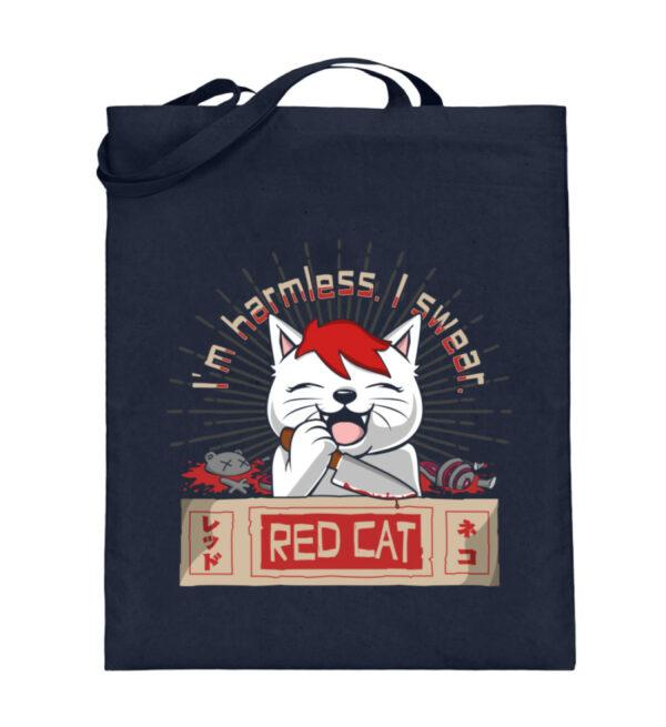 Red Cat Harmless Beutel - Jutebeutel (mit langen Henkeln)-5743
