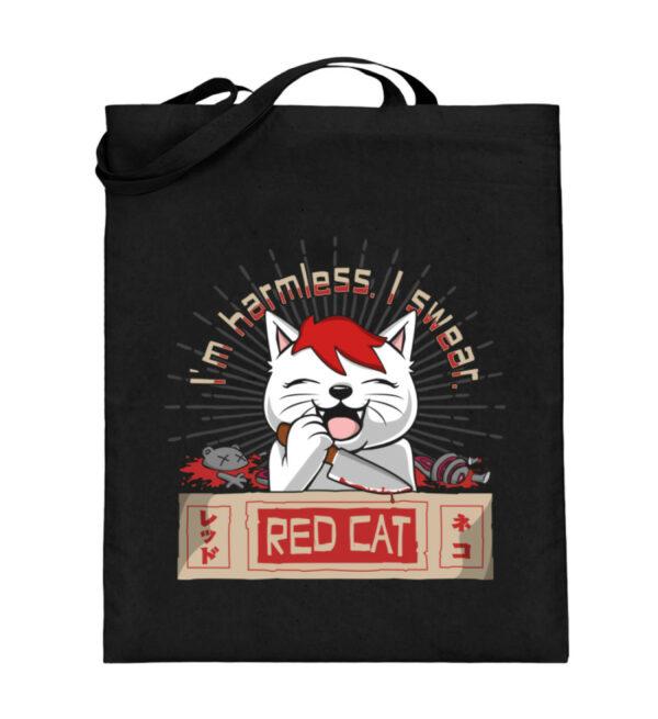 Red Cat Harmless Beutel - Jutebeutel (mit langen Henkeln)-16
