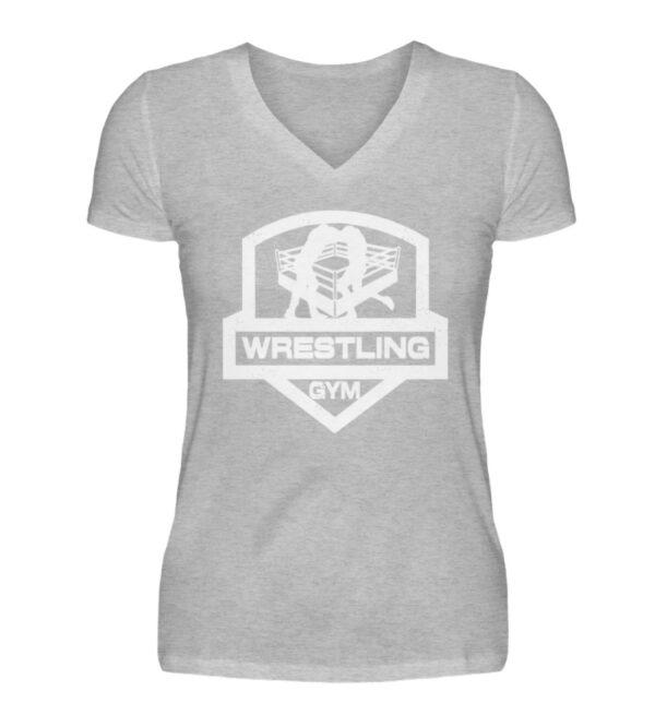 Wrestling Gym Girlie Vneck - V-Neck Damenshirt-17