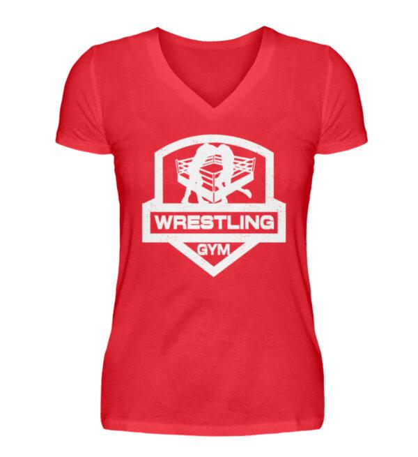 Wrestling Gym Girlie Vneck - V-Neck Damenshirt-2561