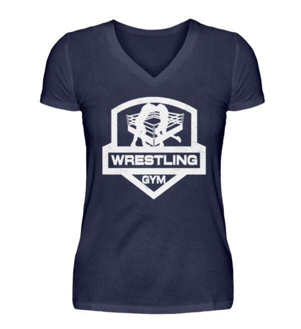 Wrestling Gym Girlie Vneck - V-Neck Damenshirt-198