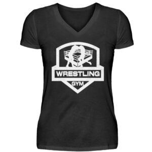 Wrestling Gym Girlie Vneck - V-Neck Damenshirt-16