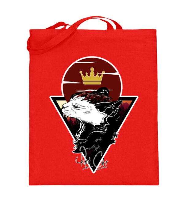 Red Cat Logo Beutel - Jutebeutel (mit langen Henkeln)-5761