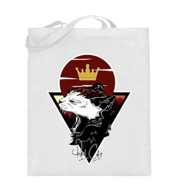 Red Cat Logo Beutel - Jutebeutel (mit langen Henkeln)-3