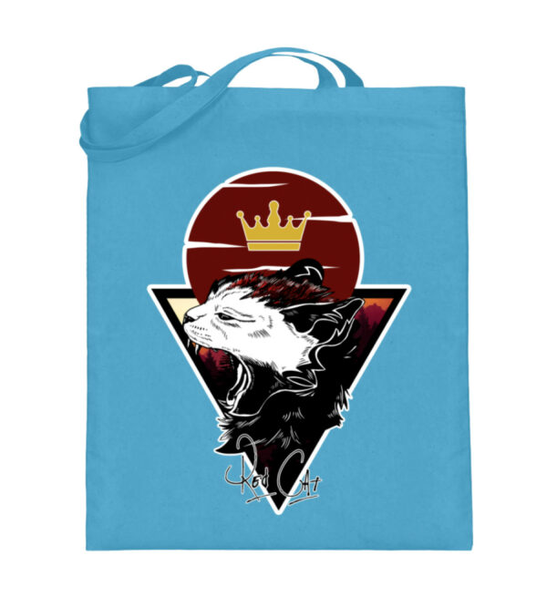Red Cat Logo Beutel - Jutebeutel (mit langen Henkeln)-5745