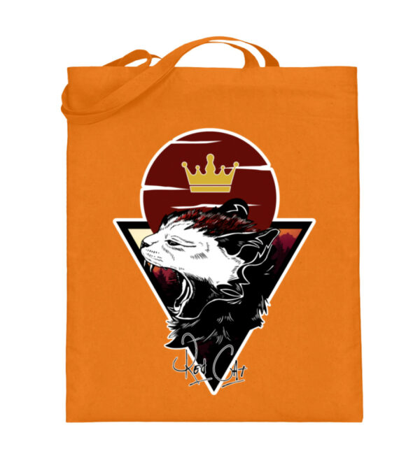 Red Cat Logo Beutel - Jutebeutel (mit langen Henkeln)-5757