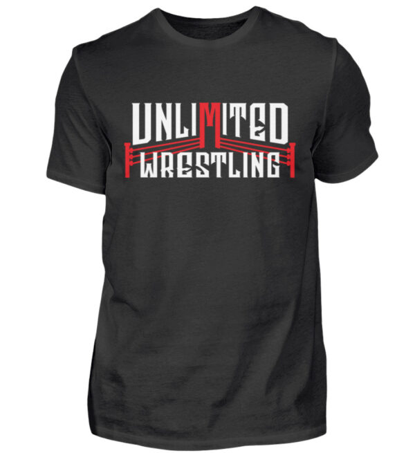Unlimited Wrestling Logo - Herren Shirt-16