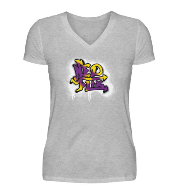 Ned Flix Girlie Vneck - V-Neck Damenshirt-17