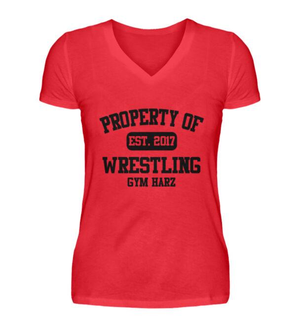 Property Wrestling Gym Girlie Vneck - V-Neck Damenshirt-2561