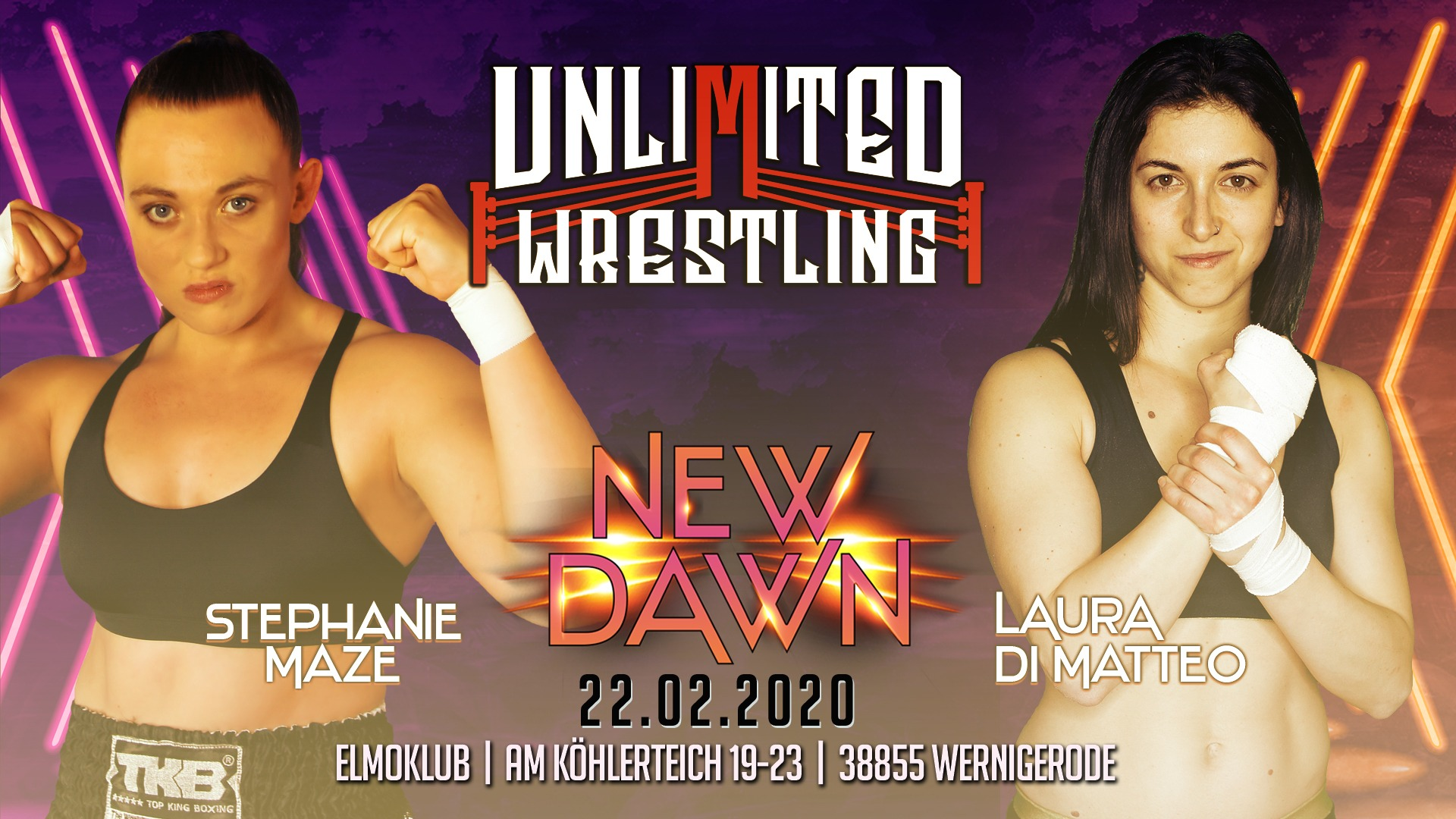 FIRST EVER Unlimited Women's MatchStephanie Maze vs. Laura DiMatteo