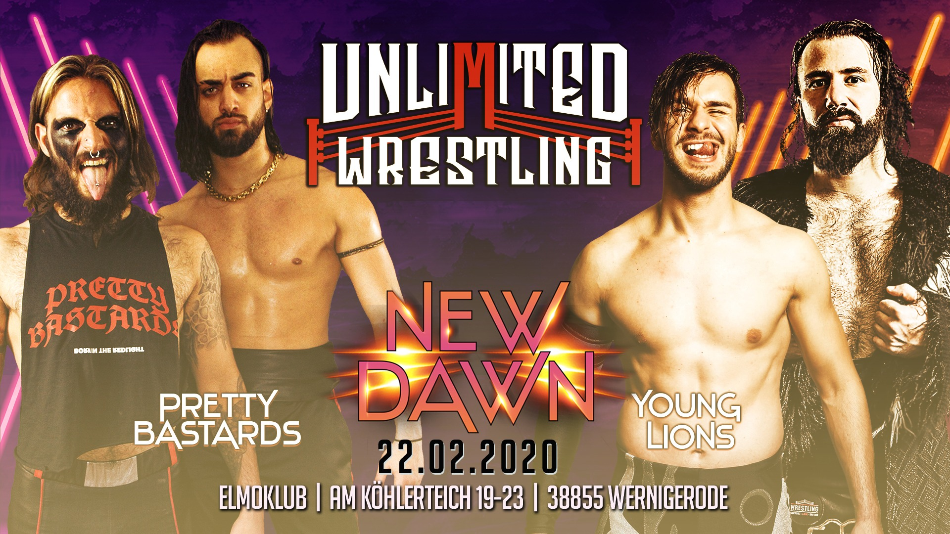Unlimited Tag Team TurnierPretty Bastards vs. Young Lions