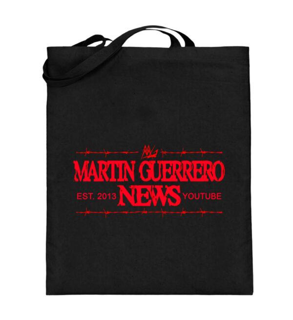 Martin Guerrero News Beutel - Jutebeutel (mit langen Henkeln)-16