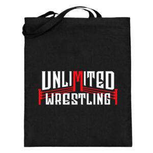 Unlimited Wrestling Logo Beutel - Jutebeutel (mit langen Henkeln)-16