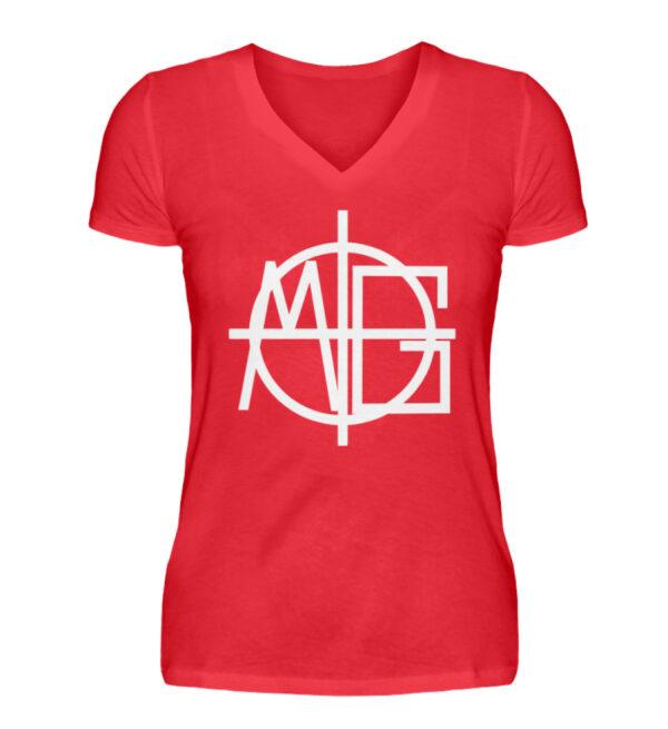 MG Target Girlie Vneck - V-Neck Damenshirt-2561