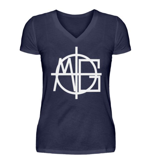 MG Target Girlie Vneck - V-Neck Damenshirt-198