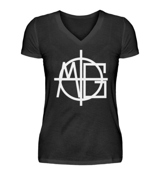 MG Target Girlie Vneck - V-Neck Damenshirt-16