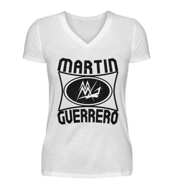 Martin Guerrero Oval Girlie Vneck - V-Neck Damenshirt-3