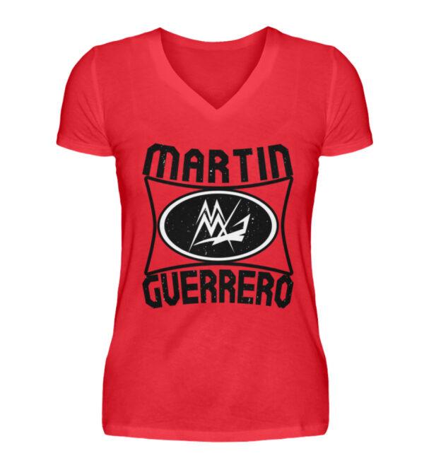 Martin Guerrero Oval Girlie Vneck - V-Neck Damenshirt-2561