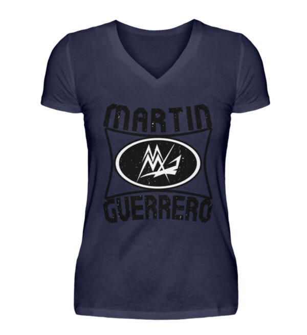 Martin Guerrero Oval Girlie Vneck - V-Neck Damenshirt-198