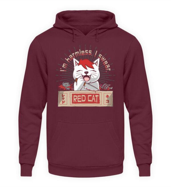 Red Cat Harmless Hoodie - Unisex Kapuzenpullover Hoodie-839