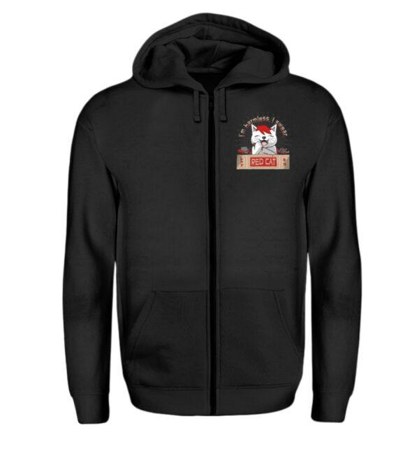 Red Cat Harmless Zipper - Zip-Hoodie-16