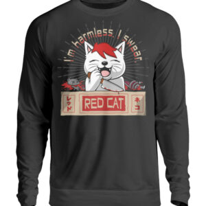 Red Cat Harmless Sweatshirt - Unisex Pullover-1624