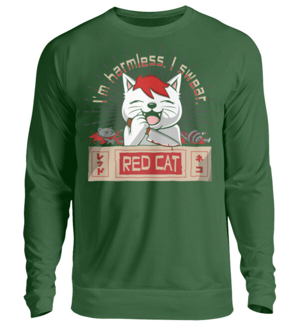 Red Cat Harmless Sweatshirt - Unisex Pullover-833