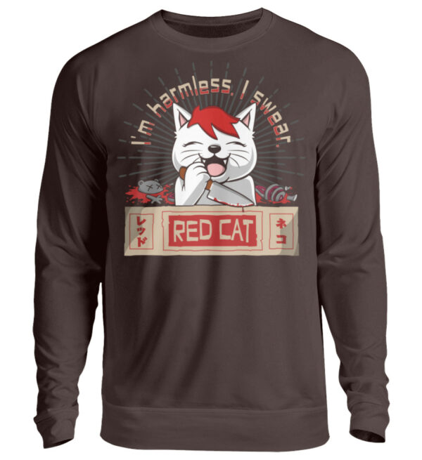 Red Cat Harmless Sweatshirt - Unisex Pullover-1604