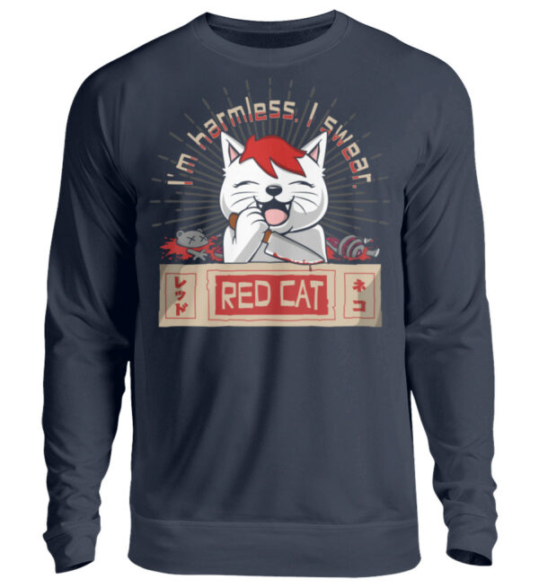Red Cat Harmless Sweatshirt - Unisex Pullover-1698