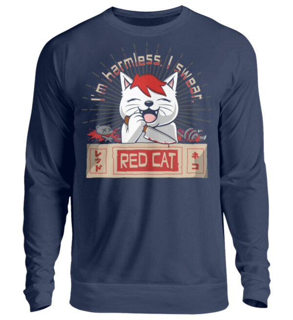 Red Cat Harmless Sweatshirt - Unisex Pullover-1676