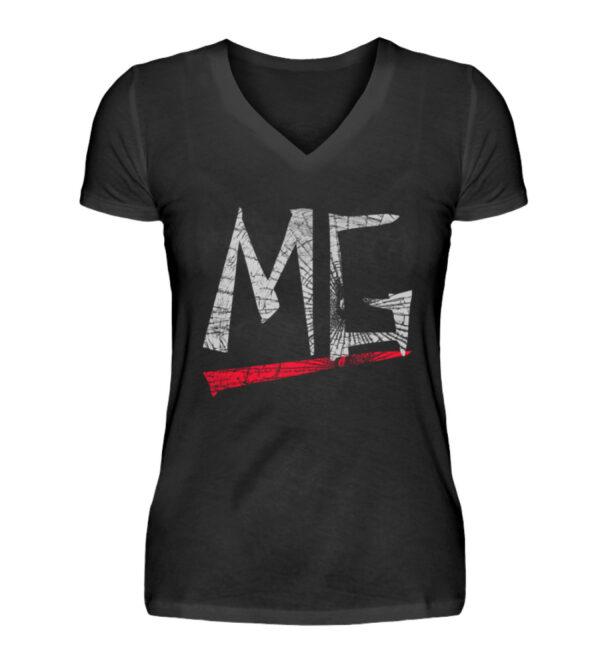 MG Glas Logo Girlie Vneck - V-Neck Damenshirt-16