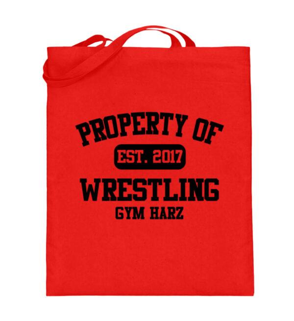 Property Wrestling Gym Harz - Jutebeutel (mit langen Henkeln)-5761