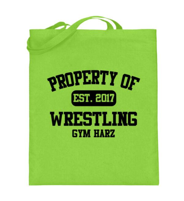 Property Wrestling Gym Harz - Jutebeutel (mit langen Henkeln)-5753