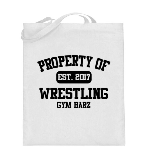 Property Wrestling Gym Harz - Jutebeutel (mit langen Henkeln)-3