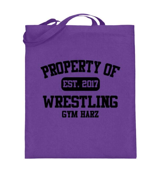 Property Wrestling Gym Harz - Jutebeutel (mit langen Henkeln)-5763