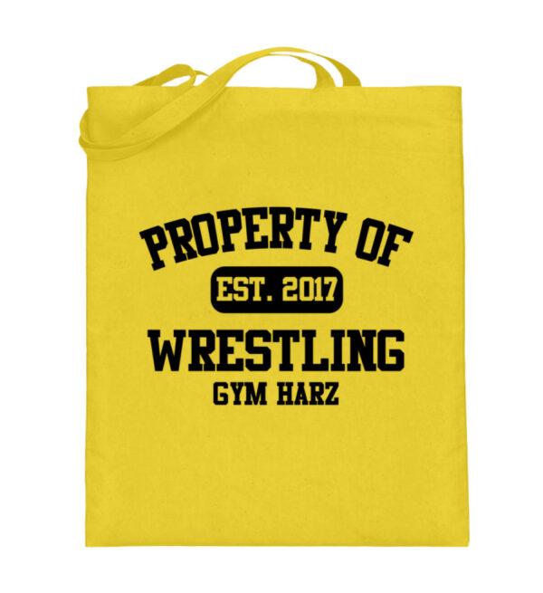 Property Wrestling Gym Harz - Jutebeutel (mit langen Henkeln)-5766