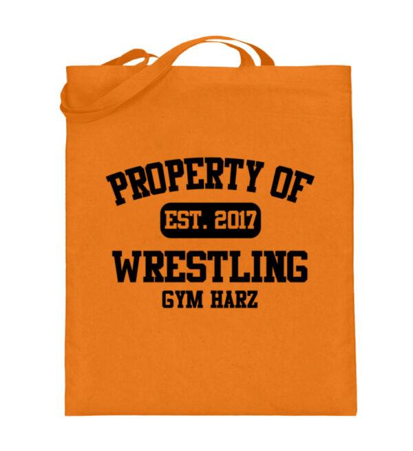 Property Wrestling Gym Harz - Jutebeutel (mit langen Henkeln)-5757