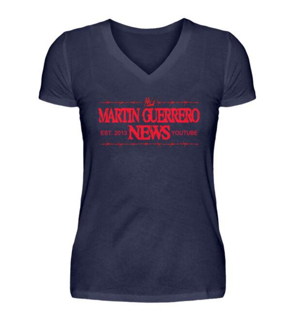 Martin Guerrero News Girlie Vneck - V-Neck Damenshirt-198