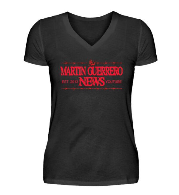Martin Guerrero News Girlie Vneck - V-Neck Damenshirt-16