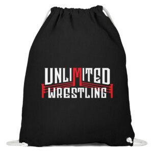 Unlimited Wrestling Logo Gymsac - Baumwoll Gymsac-16