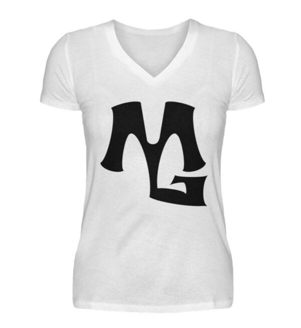 MG Muscle Girlie Vneck - V-Neck Damenshirt-3