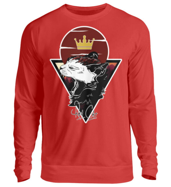 Red Cat Logo Sweatshirt - Unisex Pullover-1565