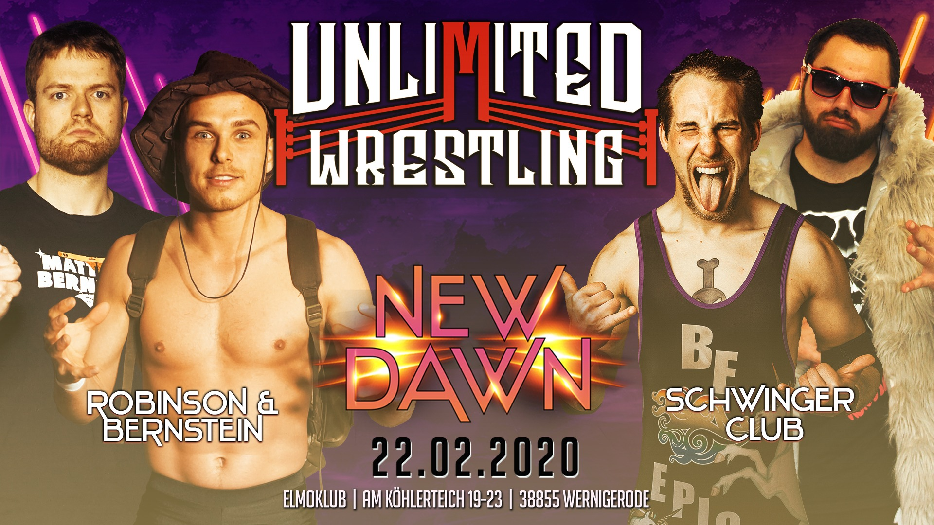 Unlimited Tag Team TurnierRobinson & Bernstein vs. Der Schwinger Club