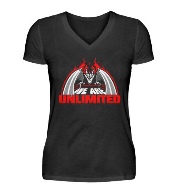 Unlimited Dragon Girlie Vneck - V-Neck Damenshirt-16